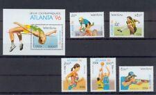 Laos Olympische Spiele Atlanta 1986  kompl. Satz  + Block postfrisch  **