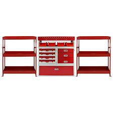 3 x Van Racks Metal Storage Shelving & Racking Drawers Steel Red Tool System