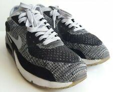 Nike Air Max 90 Ultra 2.0 Flyknit Negro Gris Lobo entrenadores Reino Unido 7, EU 41