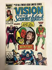 Vision & Scarlet Witch (1986) # 12 (NM-) Direct | 1st App twins Wiccan & Speed