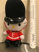 "2018 Ty Sanrio Hello Kitty London Guard 8"" Beanie Babies Plush *FLAW NO TAG RARE"