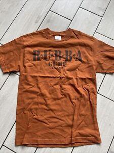 Mens Brown Bubba Gump Tshirt Medium