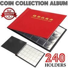 Coin Collecting Book 240 Coin Collection Album Money Storage Case Holder