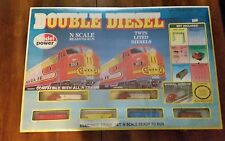 Model Power Santa Fe  Double Diesel N Scale Ready To Run Complete Set
