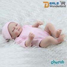 "11"" Realistic Handmade Real Looking Newborn Baby Vinyl Silicone Reborn Doll Girl"