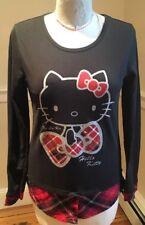 Hello Kitty Ki La Ra Black Sweatshirt Long Sleeve Medium Red