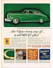 1942 Packard Clipper Touring Sedan 1941 art Vintage Print Ad