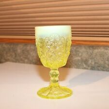 L.G. Wright Goblet Glass -Daisy & Button - Yellow
