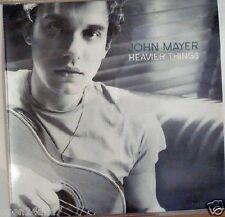 "JOHN MAYER ""HEAVIER THINGS"" ORIGINAL U.S. PROMO POSTER -Black & White Head Shot"