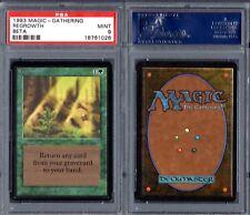 PSA 9 1993 Magic The Gathering MTG Beta #212 Regrowth POP20 Only 7↑ G00 2136