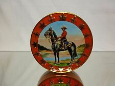 VINTAGE TIN ROUND BOX - CANADIAN MOUNTIE - RCMP - 7.5.0cm - GOOD - ONLY BOX