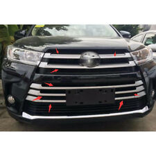 10pcs ABS Chrome Center Grille Grill Cover Trim For Highlander 2018