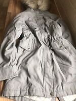 Ladies Stunning Hooded Fleece Lined Chicago Parka  Style Coat Uk Size 10