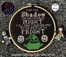 Disney inspired Oogie Boogie Halloween Quote Cross Stitch Pattern PDF Only Email