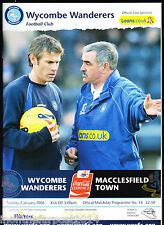 2005/06 WYCOMBE WANDERERS V MACCLESFIELD TOWN 02-01-2006 League 2