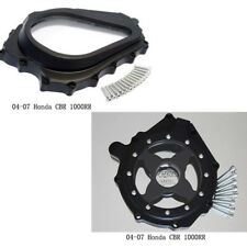 Glass See through Engine Clutch Stator Cover For 2008-2014 Honda CB1000R Black