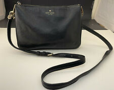 Kate Spade Crossbody Leather Purse Black with Gold S338