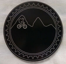 "Mountain Bike, Billet Aluminum Hitch Cover Plug,4"" Black Anodized"