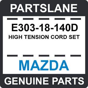 E303-18-140D Mazda OEM Genuine HIGH TENSION CORD SET