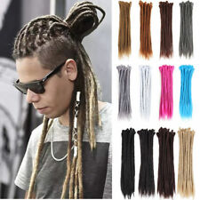10PC Handmade Dreadlocks Extensions Single Ended Crochet Braids Dreads Synthetic
