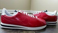 Nike Cortez Basic Premium QS Patent Leather Vivid Gym Red 819721-600 Sz 10 RARE
