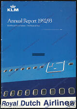 KLM - ANNUAL REPORT - ENGLISH 1992-1993
