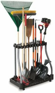 Garden Tower Tool Rack Storage Garage Utility Holder Organizer Casters 40 Tools