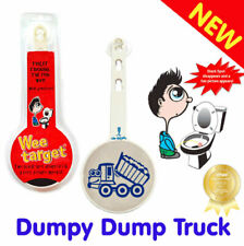 """Wee Target """"Blue Dumpy Dump Truck"""" for Boys to Wee in the Toilet - Aiming Tool"""