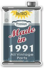 Aged Metal Tin Oil Can MADE IN 1991 Retro Novelty Ratlook Motorcycle car sticker