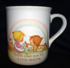 1983 Hallmark Mug Mates Betsey Clark Friends Make Your Day A Little Brighter Cup