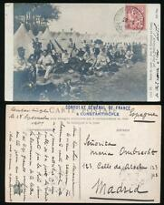 FRENCH P.O CONSTANTINOPLE TURKEY 1909 MILITARY CAMP PPC + CONSULATE GENERAL HS