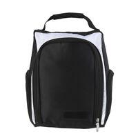 Golf Shoes Bag Portable Zipped Golf Shoe Storage Bag Case Carrier Organizer #8Y