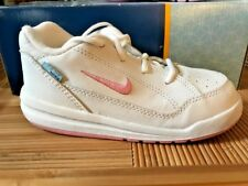 Nike Sneakers Leather Pico White/Pink NEW Little Girls Size 8 Wide