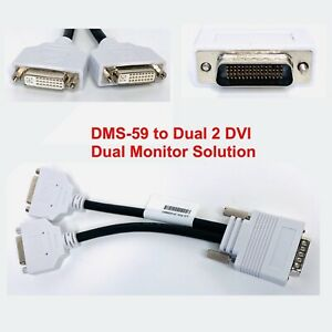 DMS-59 to Dual 2 DVI Splitter Adapter Cable Lead HP Dell Dual Monitor Cable