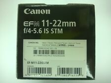 Nuevo Canon EF-M 11-22mm f/4-5.6 IS STM objetivo EF-M11-22ISSTM