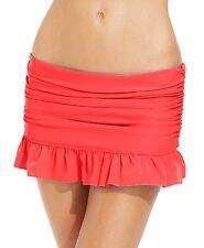 Swim Skirt 14 Island Escape Ruffled Skirtini Swimsuit Bottom Orange NWT