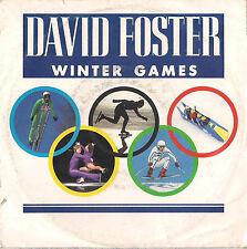 DISCO 45 giri DAVID FOSTER winter games // piano concerto in G