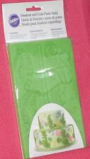 Ferns/ Dragonflies and butterflies,Wilton,Silicone Fondant,Mold,409-2548, Green
