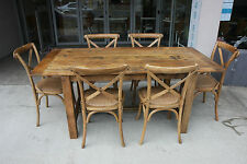 BRAND NEW OAK COLOR SHANGHAI DINING SET (TABLE + 6 CHAIRS) BEST PRICE & QUALIT