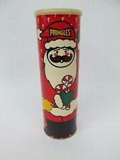 Vintage 1989 Pringles Christmas Santa Tin Can