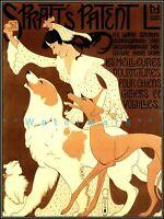 Spratt's Patent Dog Biscuits 1909 Vintage Poster Print French Animal Pet Food