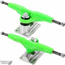 "GULLWING ""Super Pro III"" Skateboard Trucks 9.0"" Old Skool 1980s PAIR GREEN Pro 3"