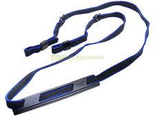 Minolta tracolla originale per fotocamere nero/blu, con spallaccio antiscivolo.