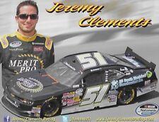 "2013 JEREMY CLEMENTS ""ALL SOUTH ELECTRICAL / MERIT PRO"" #51 NASCAR POSTCARD"