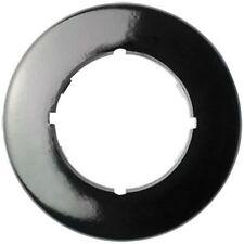 Abdeckrahmen rund 1 fach Bakalit schwarz für Dimmer und Kombigeräte  THPG