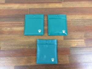 Vintage Rolex Plastic Service Bag Pouch set of 3 + Free Shipping