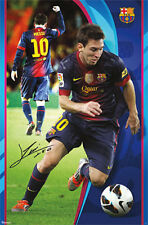 Lionel Messi THE GREAT ONE Signature Series FC Barcelona Soccer WALL POSTER
