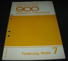 Werkstatthandbuch Saab 900 Federung Räder ab Baujahr 1979 - 1981!