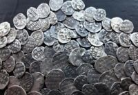 """1 coin from hoard of Russia Ivan """"The Terrible"""" 1533-1584 Wire Kopeck or Denga"""