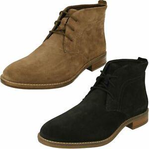 Ladies Clarks Stylish Lace Up Ankle Boots Camzin Grace